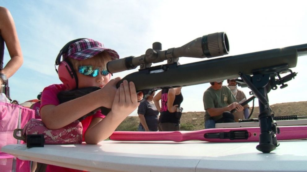 PHOTO: A group of young girls, who ranged in age from 6 to 11, attended a Little Girls Youth Training program, as sort of gun school for kids, outs