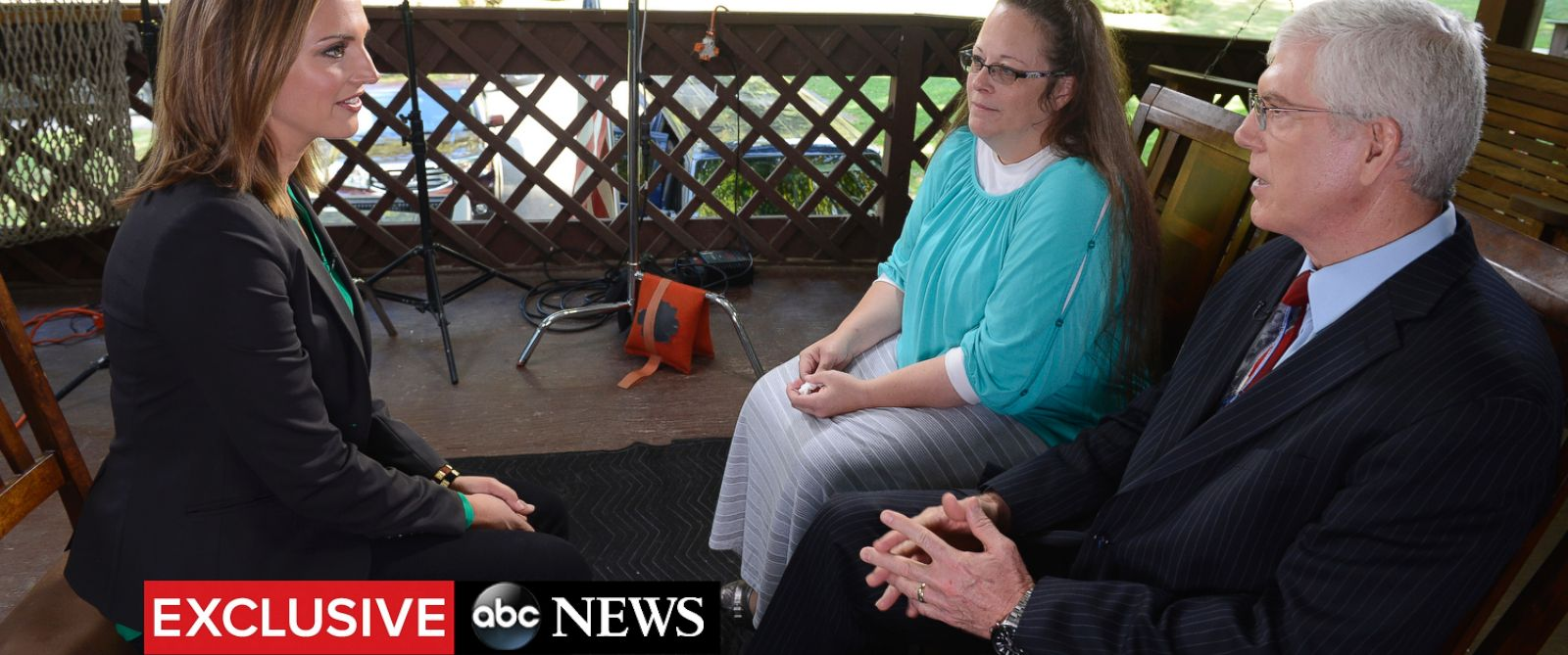 PHOTO: ABC News Paula Faris sat down for an exclusive interview with Kentucky County Clerk Kim Davis in Morehead, Kentucky, on Sept. 21, 2015.