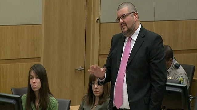 PHOTO: Attorney Kirk Nurmi stands during Jodi Arias's trial in Maricopa County Superior Court in Phoenix, Jan. 17, 2013.