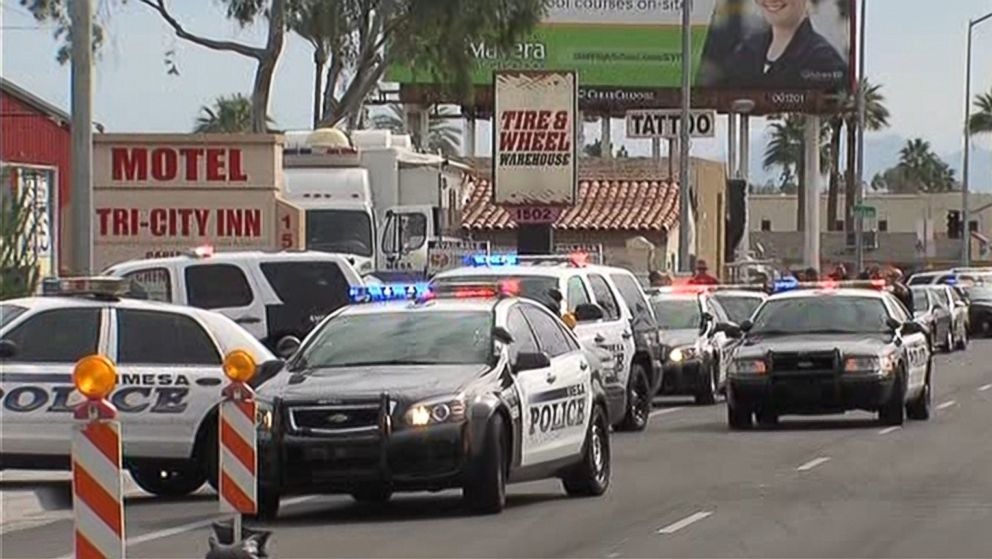 PHOTO: A shooting incident has been reported in Mesa, Ariz., March 18, 2015.