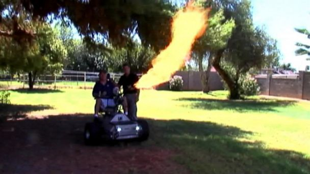 abc knxv wheelchair flames 130923 16x9 608 Hot Wheels: Arizona Man Designs Flame Throwing Wheelchair
