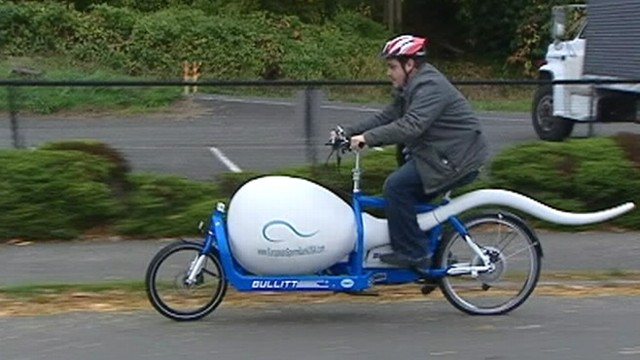 VIDEO: Custom-made bicycle transports samples from sperm banks to fertility clinics.
