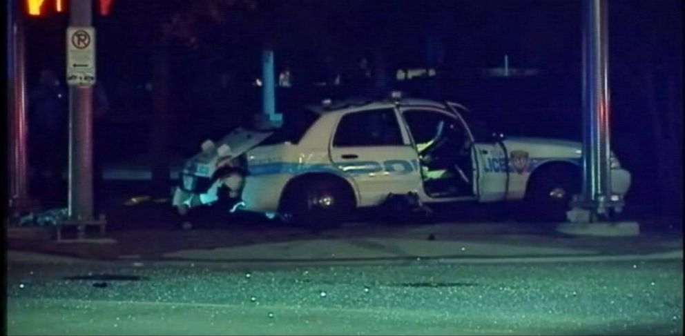 PHOTO: A woman was killed in a drunk driving accident while in police custody in Houston, Texas on Oct. 2, 2013.