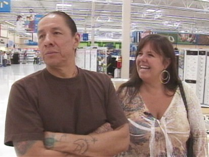 VIDEO: Rock Greensky and Debby South got engaged at an Idaho Wal-Mart.