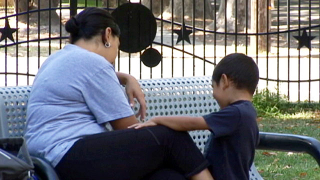 PHOTO: Babysitter with child in California