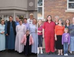 PHOTO: Suzette Steed and her six daughters left the strict Fundamentalist Latter Day Saints community in Colorado City, Arizona, to start a new life. These images show them before and after they left.