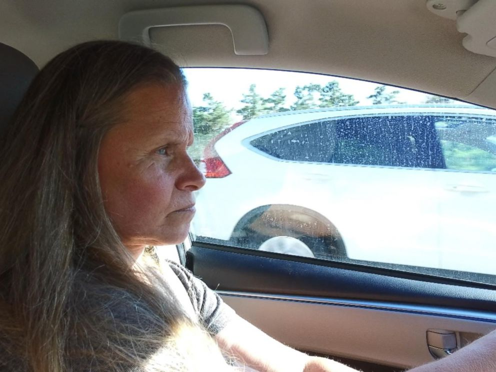 Leslie McCowen is seen here driving to the Old Colony prison to see her husband, Christopher McCowen.