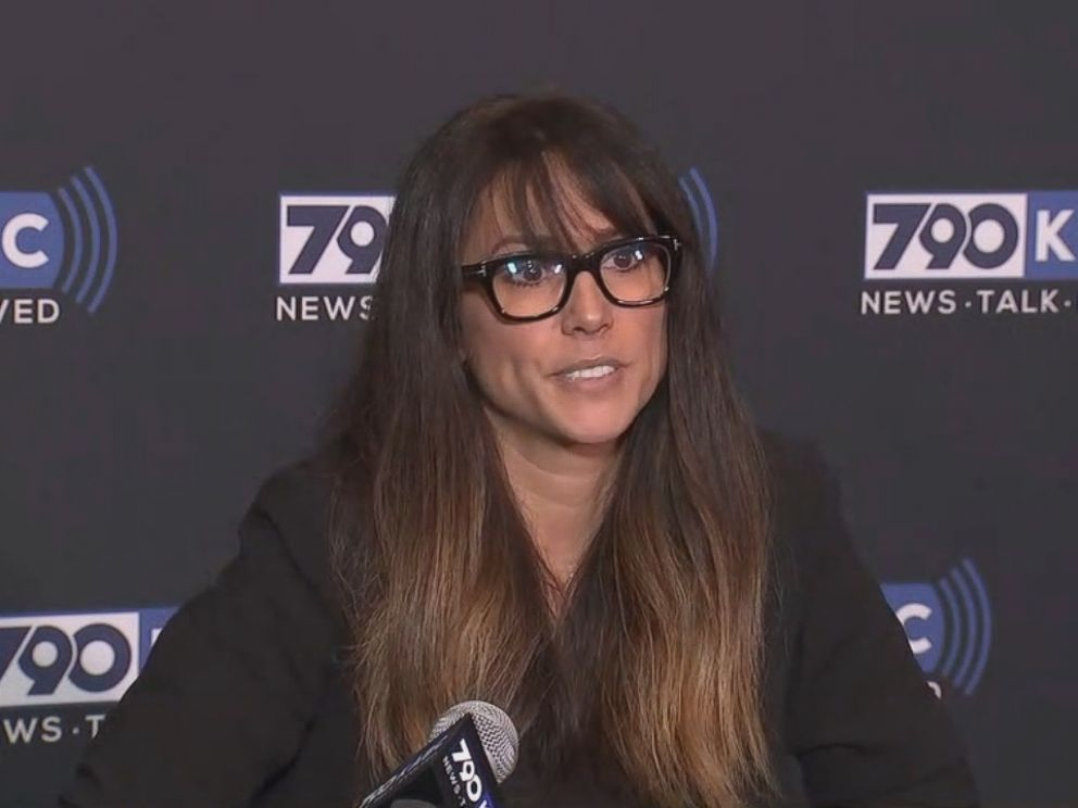 Leeann Tweeden is seen here during a press conference.