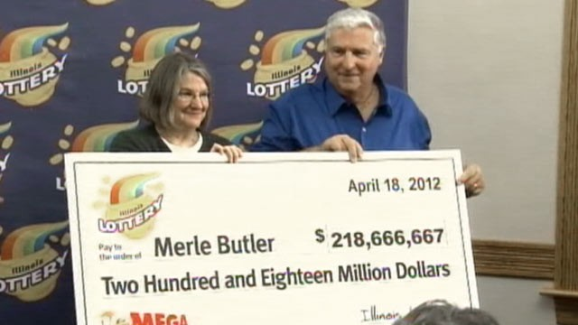PHOTO: The Illinois Mega Million Lottery winners, Merle and Patricia Butler, were announced today, April 18, 2012.
