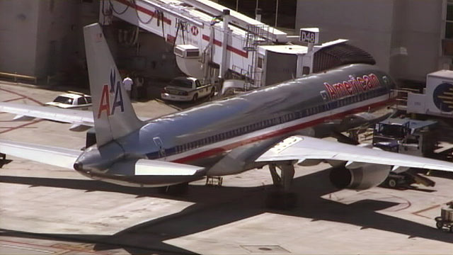 PHOTO: A man accused of rushing the cockpit of American Airlines flight 320 was arrested today at the Miami International Airport.