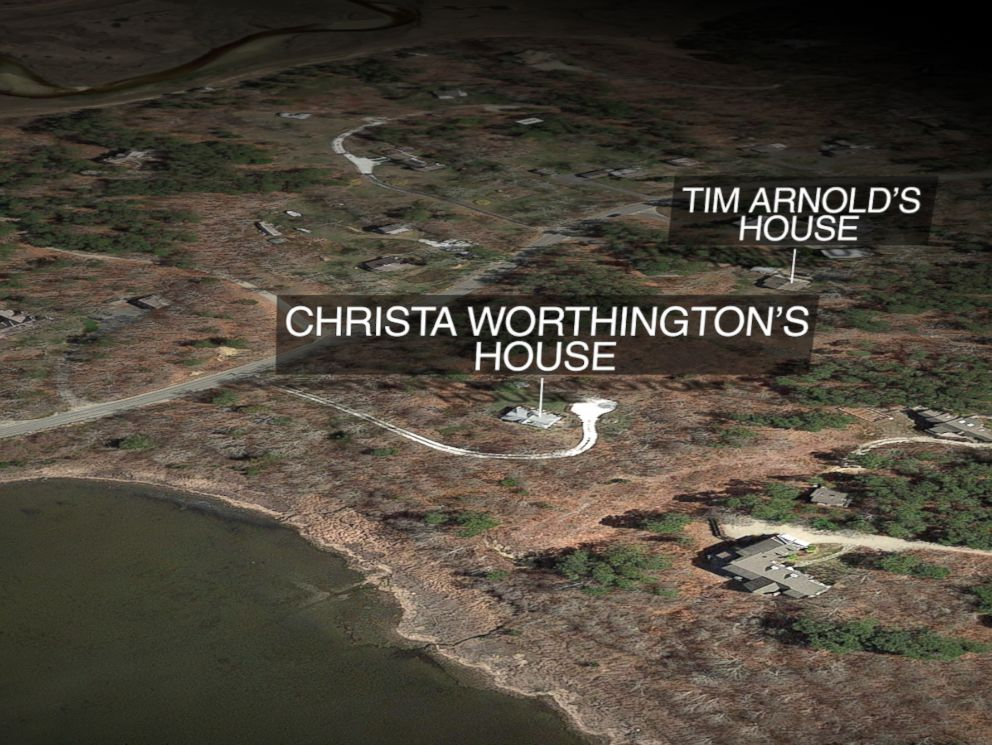 ABC News graphic map of Christa Worthingtons home.