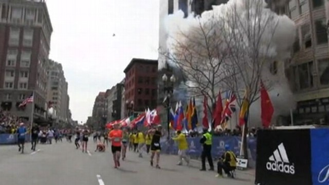VIDEO: Camera captures the deadly explosion that occurred near the marathon's finish line.