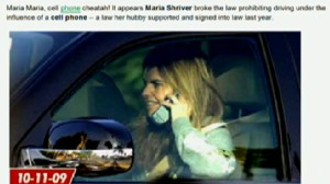VIDEO: Website catches Maria Shriver breaking Ca. cell phone law.
