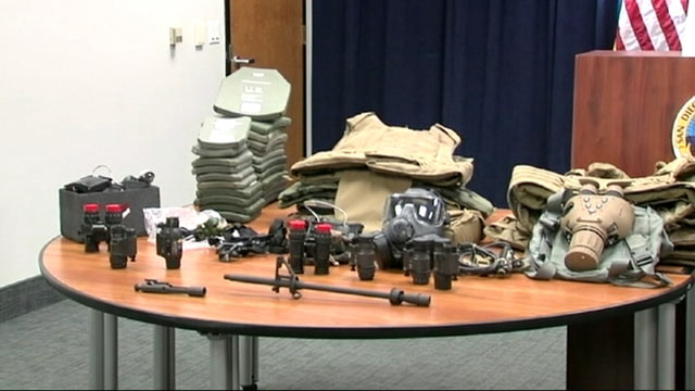 "PHOTO: Sixty-four individuals, some of whom are active-duty and former Marines and sailors, were investigated in connection with an organized crime ring in the Marine Corps Base Camp Pendleton, Calif. area as part of Operation ""Perfect Storm"" June 4, 2013"