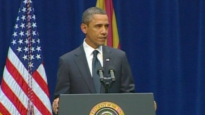 VIDEO: The president remarks on the tragedy in Tucson.