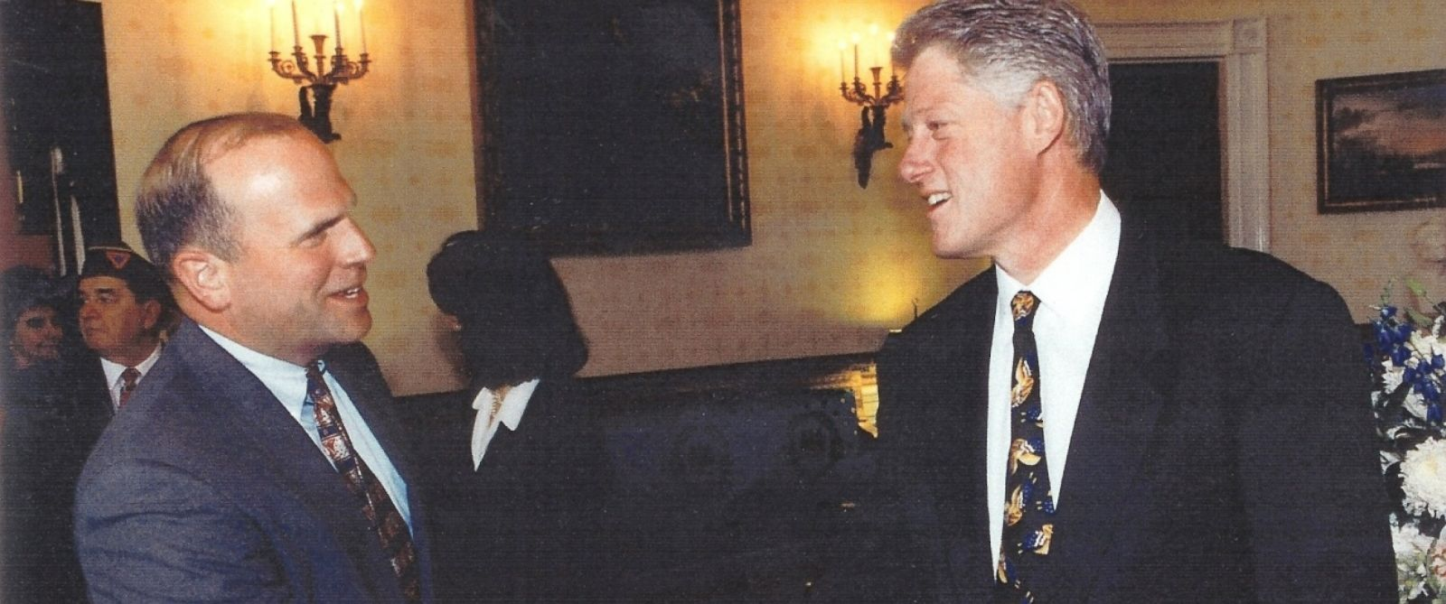 PHOTO: Col. Tim Milbrath with former President Bill Clinton.