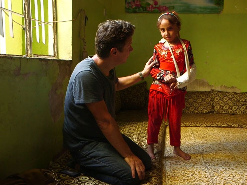 ABC News Ian Pannell talks with 6-year-old Malak in Mosul during a report for Nightline.