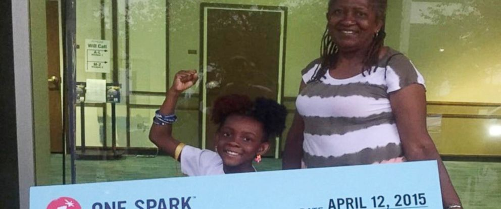 "PHOTO: Natalie McGriff won $16k with the comic book ""The Adventures of Moxie Girl"", that she created with her mom, Angie Nixon."