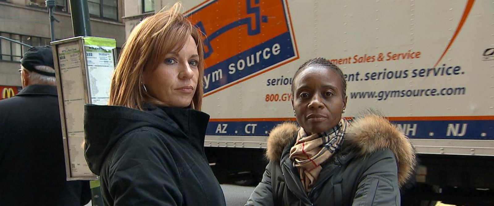 Two female New York City bus operators Nancy Jenkins, left, and Teresa Garcia, right, claim they were sexually harassed by the same male supervisor.