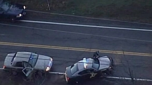 PHOTO: One police officer was killed and four other officers were injured in New Hampshire this evening in a standoff with a suspect armed with a rifle, authorities said.