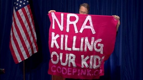 abc nra presser jef 121221 wblog Nightline Daily Line, Dec. 21: Protestors Interrupt NRA Presser