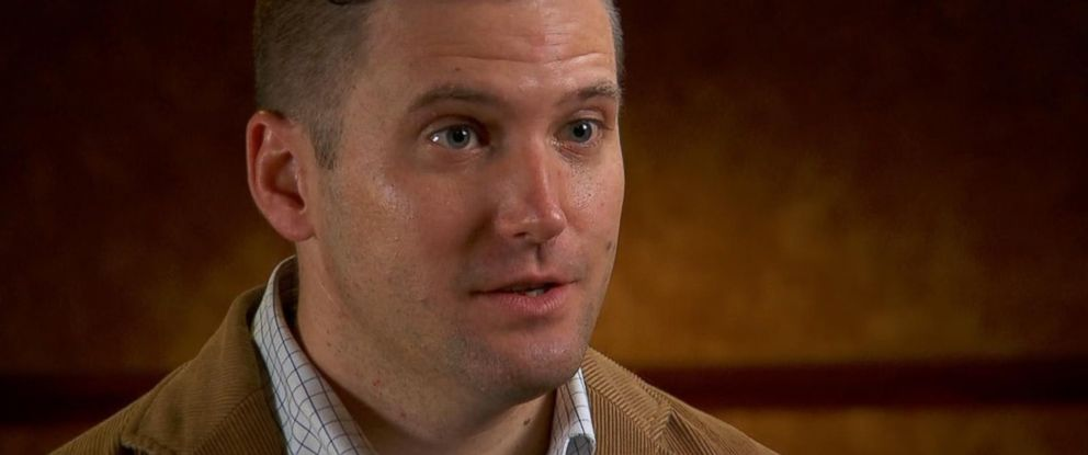 "PHOTO: White nationalist Richard Spencer is interviewed for ""Nightline."""