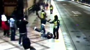VIDEO: Security Guards Watch Mall Beating