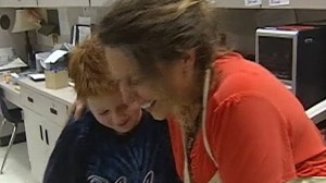 Video: Choking teacher saved by autistic student.