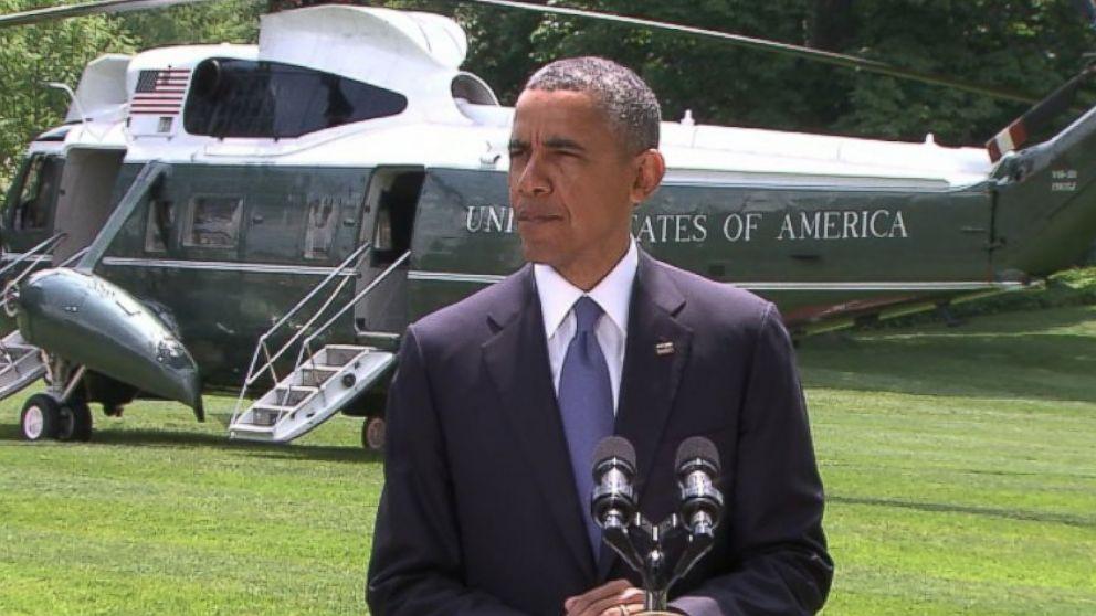 PHOTO: President Obama makes a statem