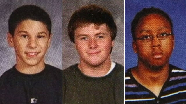 PHOTO: Daniel Parmertor, Russell King Jr., and Demetrius Hewlin have died following a shooting rampage at Chardon High School.