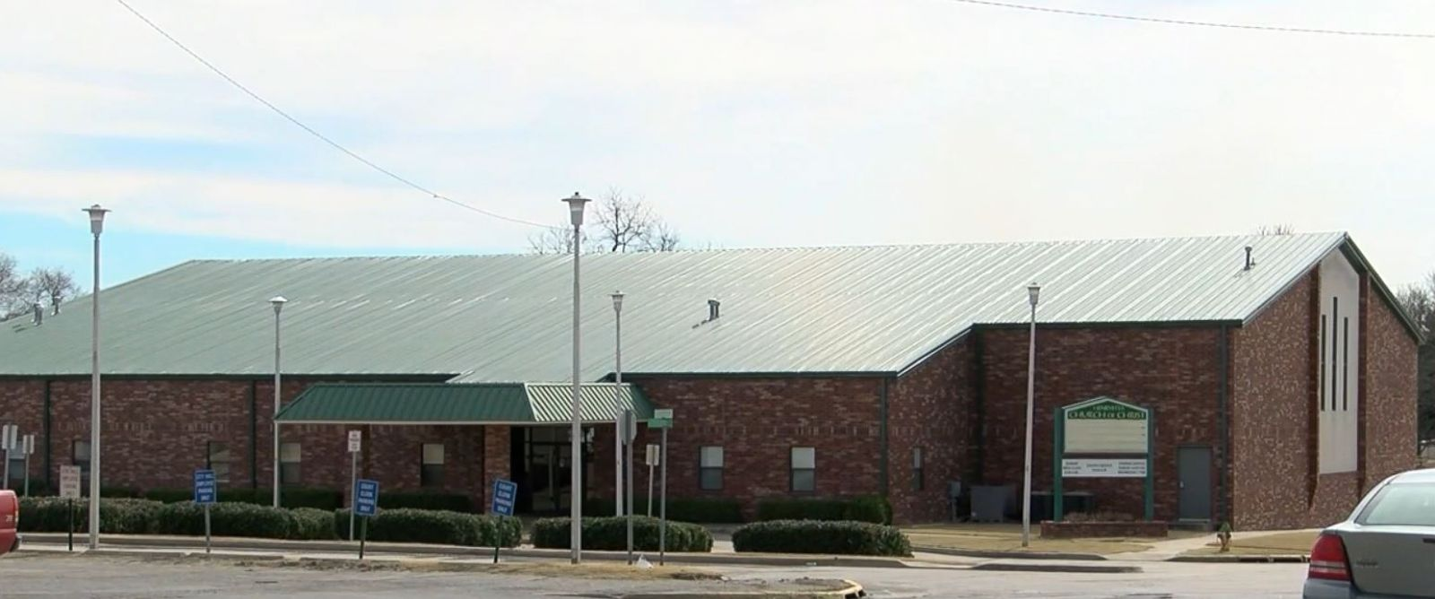 PHOTO: The Henryetta Church of Christ in Henryetta, Oklahoma, is 300 feet from a venue where a Valentines Day dance was slated. It had to be cancelled because of a city ordinance banning dancing within 500 feet of a church.