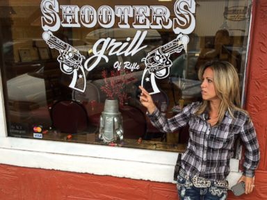 PHOTO: Lauren Boebert and her husband own Shooters Grill in Rifle, Colorado, where most of the staff open carry handguns.