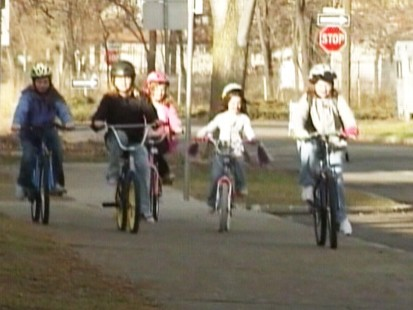 Video: Bike riding girls form neighborhood pet detective agency.