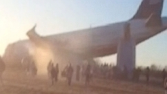 Passenger shot video of flight 1702 after getting evacuated.