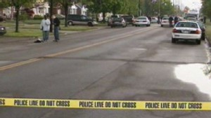 Video: Detroit police officer killed during shootout.
