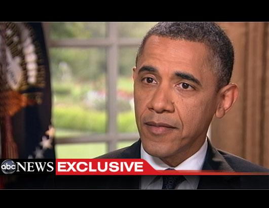 President Barack Obama affirms his support for same-sex marriage during an ...