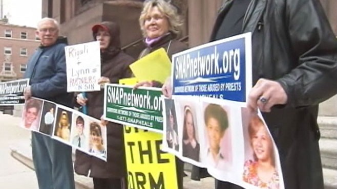 VIDEO: Support groups take action in abuse cases involving the Catholic Church.