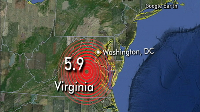 PHOTO: The epicenter of the quake was near Mineral, Va.