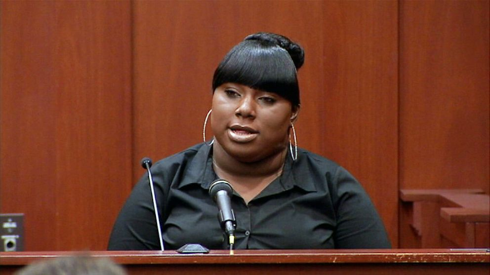 PHOTO: Rachel Jeantel testifies during George Zimmermans trial in Seminole circuit court in Sanford, Fla., June 26, 2013.