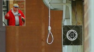 Video: Noose and racist yard art shock locals.
