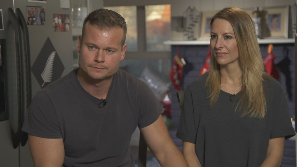 James and Melinda Ray are seen here during an interview with ABC News.