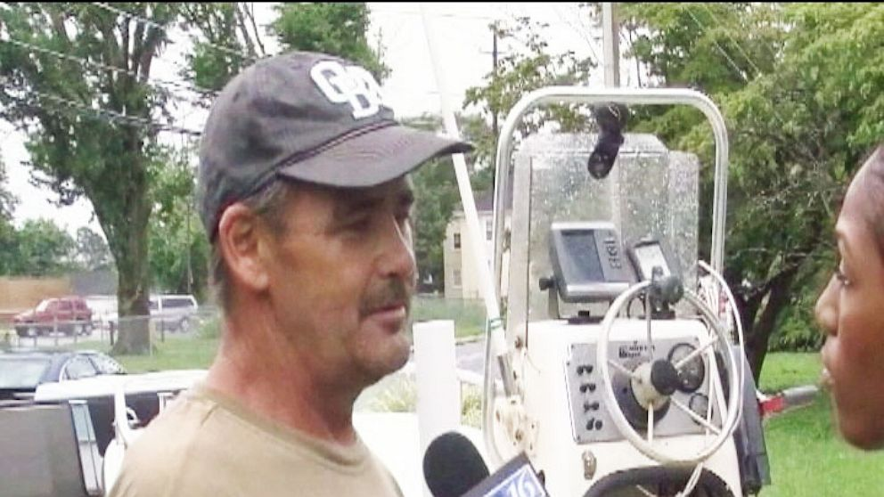 PHOTO: John Franklin Riggs swam for five hours to get help for his family stranded at sea.