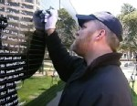 PHOTO: Ron White, 39, is a United States Navy veteran from Forth Worth, Tex., who memorized the names of the 2,200 service members who have lost their lives in Afghanistan.