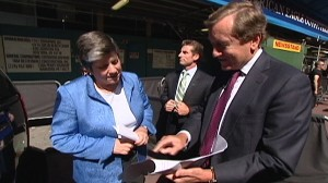 VIDEO: Janet Napolitano talks about subway safety