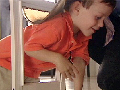 VIDEO: Child Slips through Pet Doors