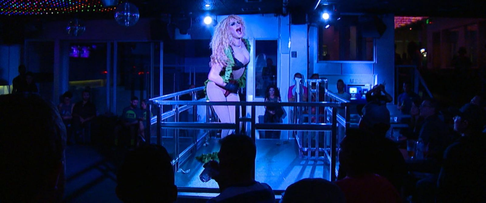 "PHOTO: ""Viktor"" sings a mash-up of ""I Will Survive"" and ""Im a Survivor"" at a recent drag show in San Francisco."