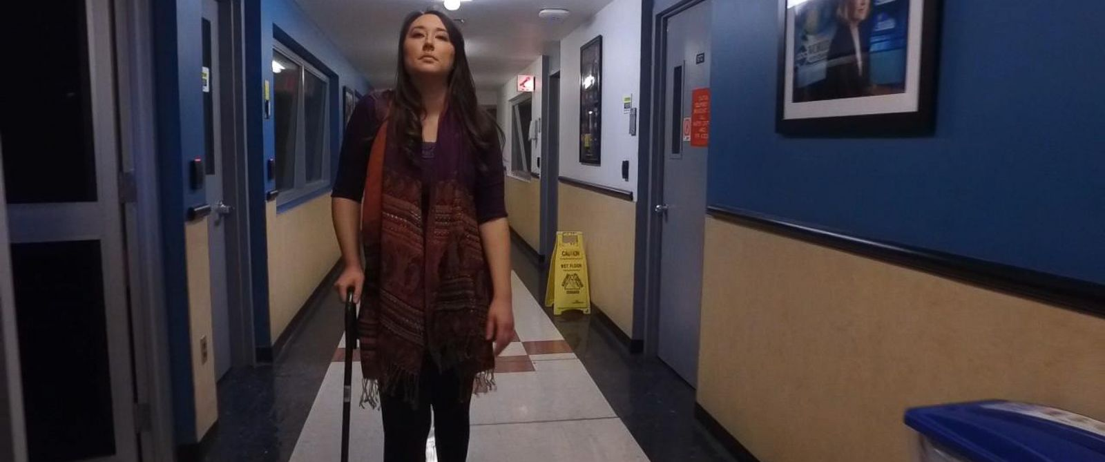 PHOTO: Amanda Gaspard, a survivor of the deadly terrorist attacks in San Bernardino, California, continues to struggle with pain one year after being shot twice.