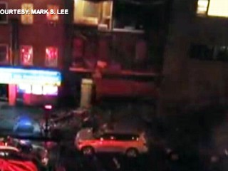 Watch: Hurricane Sandy Tears Away NYC Building Wall