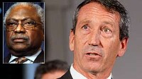 PHOTO Gov. Sanford's rejected the stimulus money and Rep. Jim Clyburn's commented that the SC legislature should circumvent Sanford and get the money for the state anyway.