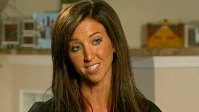 PHOTO: A former Bengals cheerleader accused of sex abuse, Sarah Jones, talks about her charges with 'Good Morning America.'